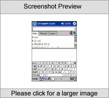 LingvoSoft Talking Dictionary English <-> Czech for Pocket PC Screenshot